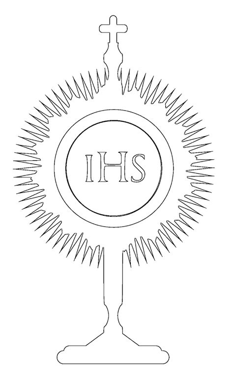 Sacraments Coloring Pages Monstrance Coloring Page