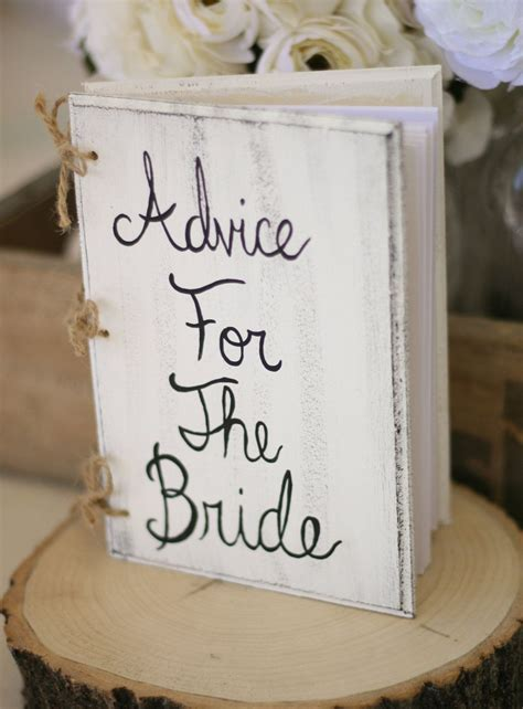 Bridal Shower Guest Book Shabby Chic Wedding Decor Custom