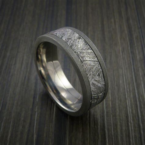 gibeon meteorite  titanium wedding band