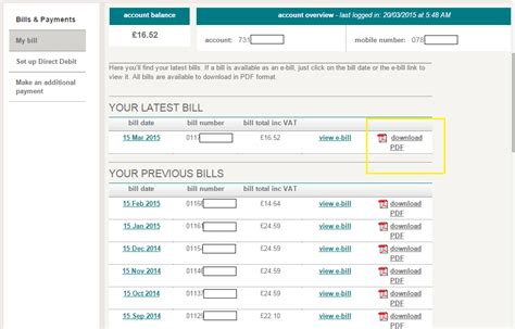 manage your orange bills help ee