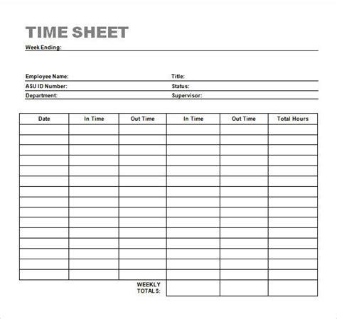 weekly timesheet template timesheet time sheet template