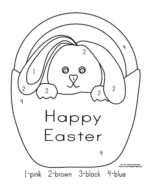 easter coloring pages by numbers colour by number easter free coloring pages of rabbit
