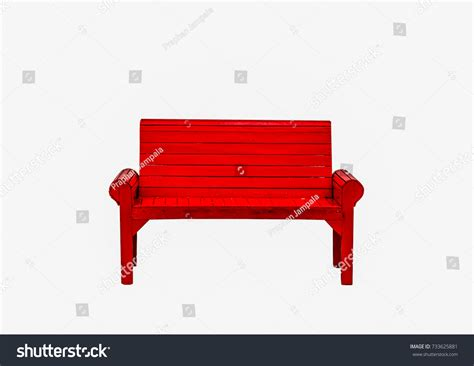 red park bench red park bench park stock photo 733625881 shutterstock