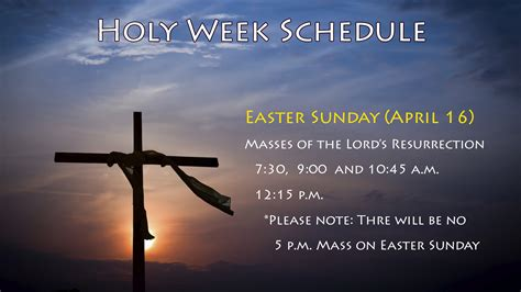 easter sunday mass holy week mass times our of ransom catholic church