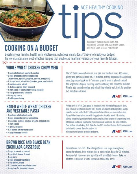 Healthy Kitchen Tips by Healthy Cooking For A Family On A Budget