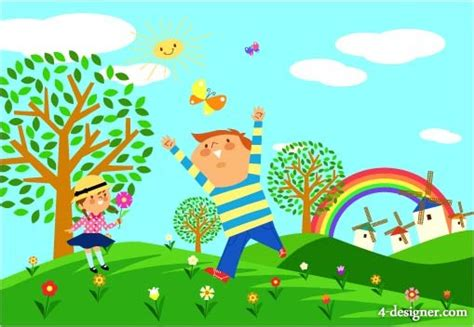 environmental boat cleaner 4 designer ecological environment for children vector