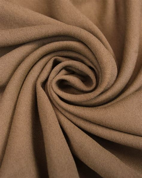Crepe Viscouse Premium 1 viscose crepe fabric sand brown truro fabrics