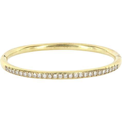 vintage 14 karat yellow gold bangle bracelet