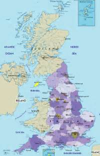 England Map by Map Of England Cities