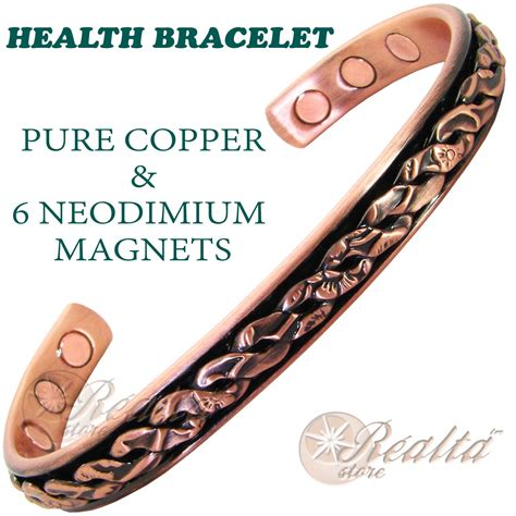 copper bio magnetic health bracelet bangle for