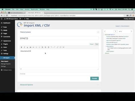 xml tutorial element wordpress xml import tutorial with wp all import mapping
