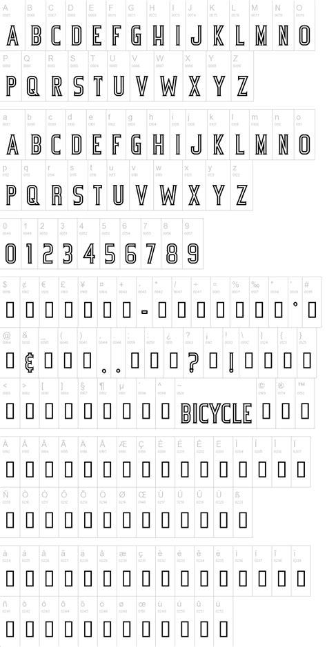 bicycle font dafontcom