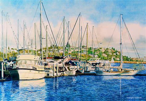 buy a boat marina del rey marina del rey afternoon painting by douglas castleman