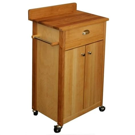24 inch butcher block kitchen cart 51531