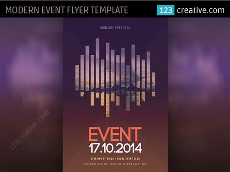 Modern Event Flyer Template Psd At Www 123creative Com Simple And Minimal Poster Template For Simple Event Flyer Template