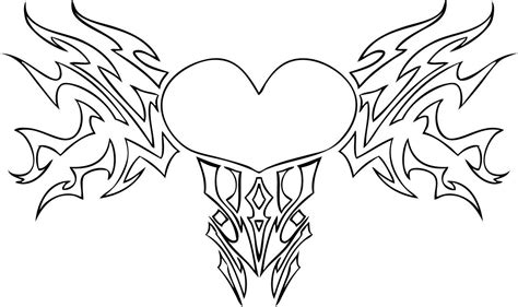 coloring pages heart with wings free coloring pages of hearts with wings