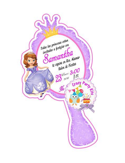 invitaci n de bautizo de princesa para imprimir princesa sofia invitaciones personalizadas originales