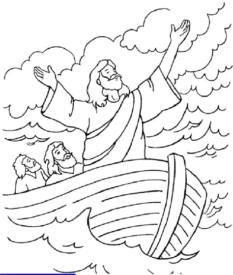Jesus Calms The Coloring Pages Az Coloring Pages