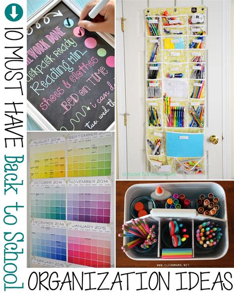 organization tips for school 10 must have back to school organization ideas the scrap