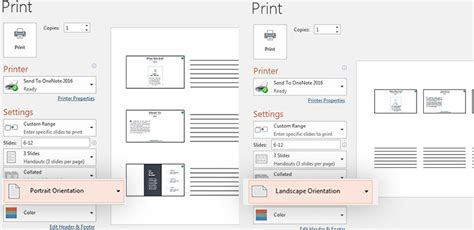 powerpoint layout landscape portrait how to print your powerpoint slides the complete guide