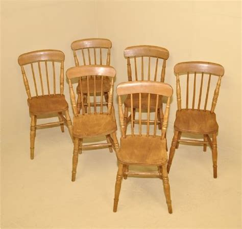 6 farmhouse kitchen chairs 232910 sellingantiques co uk