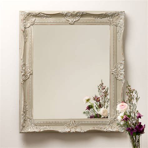 Handcrafted Mirrors - painted ornate mirror by crafted mirrors