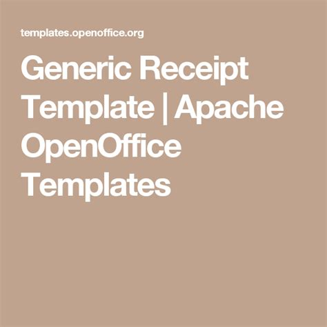 Apache Open Office Receipt Templates by Generic Receipt Template Apache Openoffice Templates
