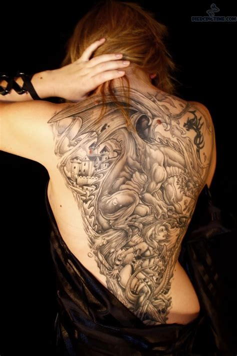 arm corset and tattoo on back