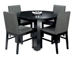 Udine Dining Table Black Cuba Black Circular Dining Table 4 Upholstered Dining Chairs