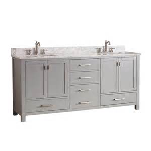 Lowes Vanity Gray Shop Avanity Modero Chilled Gray Undermount Sink