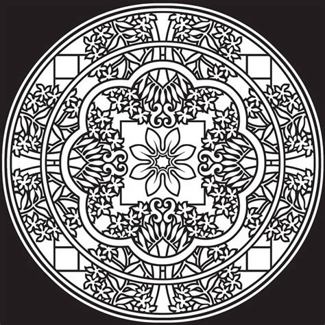 mandala stained glass coloring books welcome to dover publications