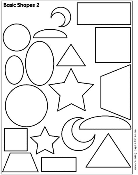 printable coloring pages educational shape color pages coloring pages for kids educational