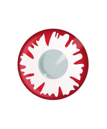 contact lens dueba fancy white demon halloween color lens