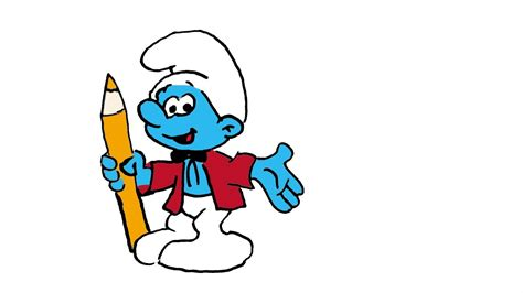 painting smurfs painter smurf www pixshark images galleries with a