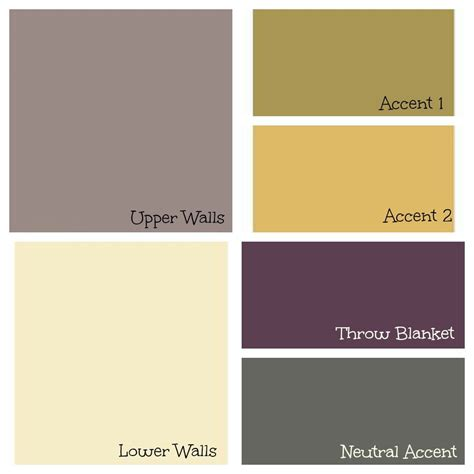 living room colour paint palette using purple green and