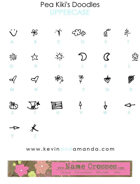 doodle name kevin pea doodles