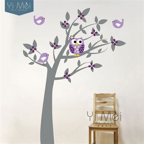 bird wallpaper home decor owl birds vinyl wall stickers tree branches art decalsfor