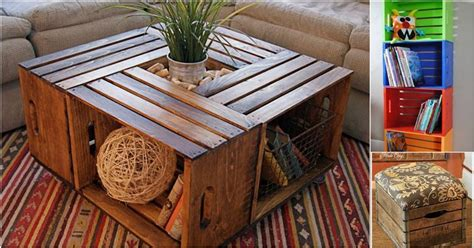 crate furniture diy wooden crates re purposed into diy furniture and storage diy cozy home