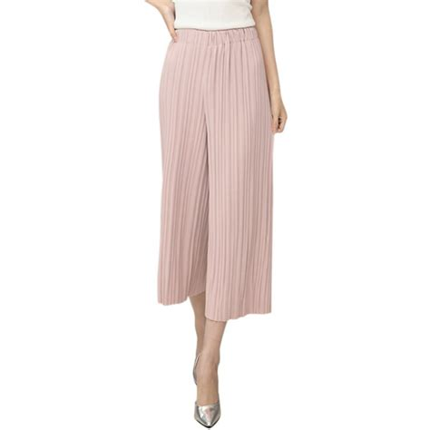 Chiffon Culottes casual pleated culottes dress wide