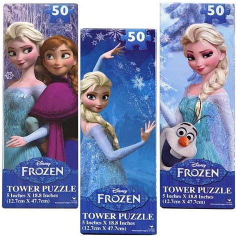 printable frozen jigsaw puzzle amazon disney frozen 50 piece jigsaw tower puzzle set of