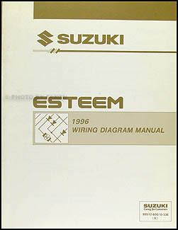 1996 suzuki esteem wiring diagram manual original 1996 suzuki esteem wiring diagram manual original