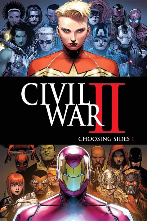 civil war ii marvel unveils its civil war ii tie ins nerdist