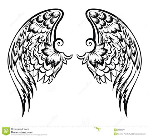 wings tatoo design stock vector image of freedom hawk