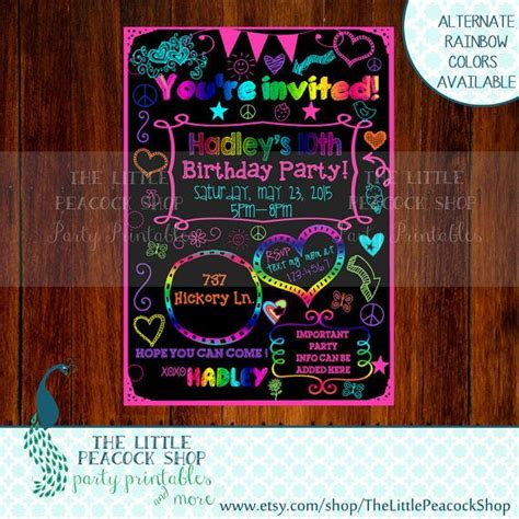 printable birthday invitations for tweens 1000 images about double digits on pinterest birthdays