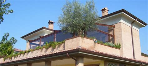 tende invernali chiudere terrazzi e balconi con tende invernali idee