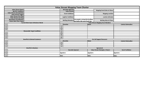Vsm Template by Vsm Template For Microsoft Excel 28 Images Value
