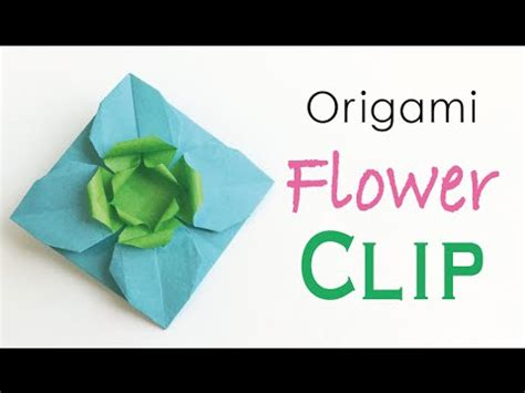 origami paper flower clip pin broach origami kawaii 167