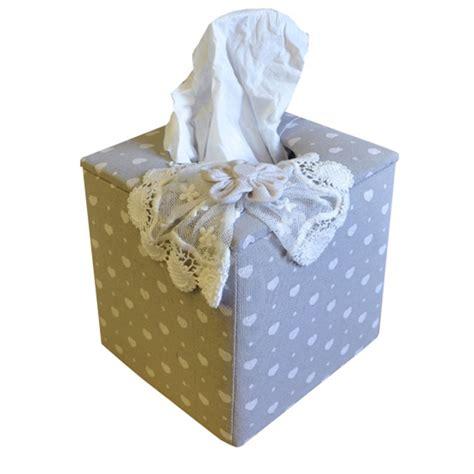 Lace Tissue Box linen hearts and lace square tissue box