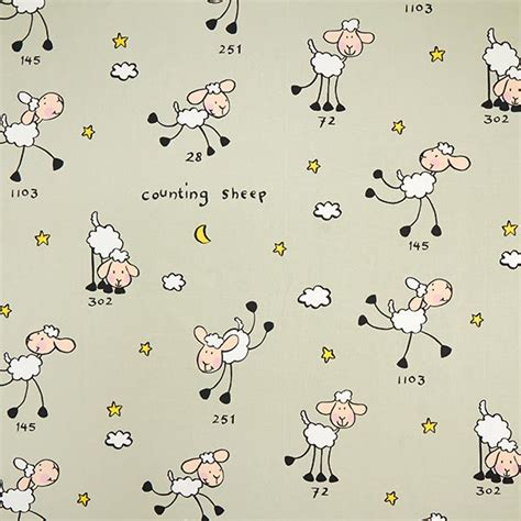 tessuti tende bambini tessuto cretonne per tende bambini contare le pecore