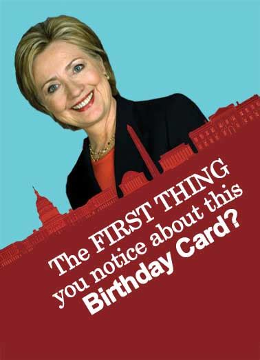 Clinton Birthday Card Funny Hillary Clinton Cards Cardfool Free Postage Included